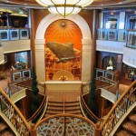 "Cunard Queen Victoria ship Atrium ""Grand Lobby"""
