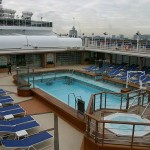 "Cunard Queen Victoria cruise ship ""Pavilion Pool"" / Lido pool"